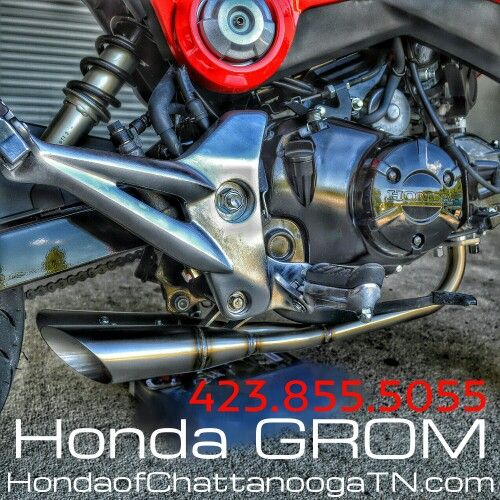 2015 Honda Grom SALE at Honda of Chattanooga in TN!  Custom Honda Grom 125 pictured above. Get the first 2015 Honda Grom in stock at Honda of Chattanooga. Check out our website for 2015 Grom 125 Prices / Colors / Release Date Info and more at www.HondaofChattanoogaTN.com   Chattanooga TN Honda Motorcycle Dealer : Honda of Chattanooga. TN / GA / AL area Honda PowerSports Dealer offering Discount prices since 1962!  Check out our wholesale Honda motorcycle Prices at…