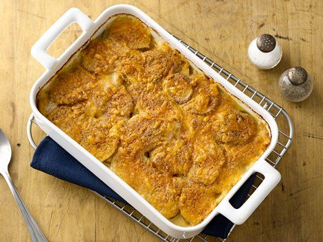 Cheesy au Gratin Potatoes - Ordinary ingredients become extraordinary when combined in this comfort-food casserole.