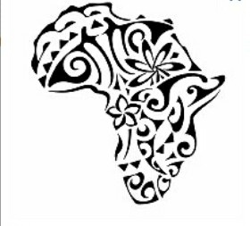 n this design of Africa the dolphin represents friendship and wisdom, and the korus on the inside indicate a rebirth which led to a new blooming (tiare and frangipani flowers symbolizing beauty and femininity) and to freedom (the manta) thought as a new beginning (korus). The sun marked by shark teeth (adaptability and strength) symbolizes eternity and joy, the waves symbolize this change and the hammerhead shark motif at the base symbolizes the determination and tenacity at the base of all…
