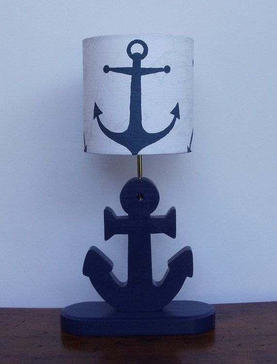Anchor Lamp  Handmade Wooden Nautical Desk or by PerrelleDesigns, $65.00