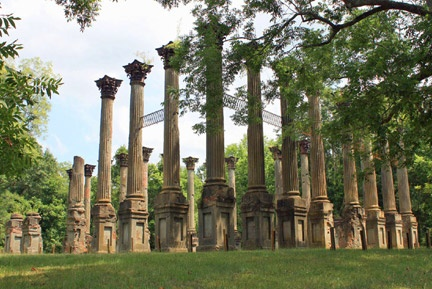 The Windsor Ruins are the remains of The Windsor Plantation, the largest antebellum home in MS. The Plantation survived the Civil War, only to burn down in 1890. GREAT place for a picnic/history lesson!