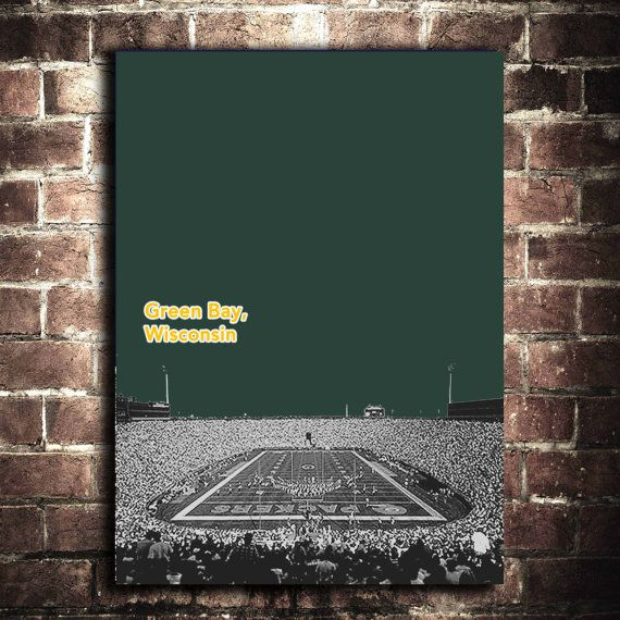 Green Bay Packers NFL Sports Football Print 12x16 by PrintWell, $15.00