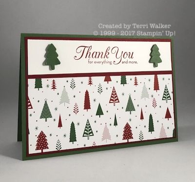 This One Big Meaning holiday thank you card is perfect for a special hostess - and is easy to make!