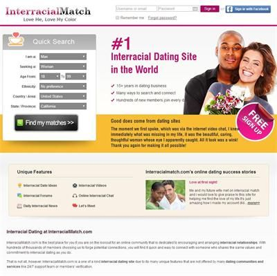 Which dating sites are the most interracial