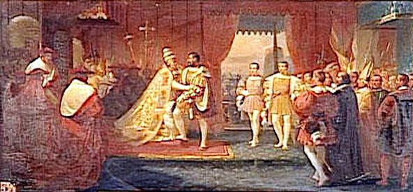 File:Meeting of Francis I and Pope Clement VII in Marseilles 13 October 1533.jpg