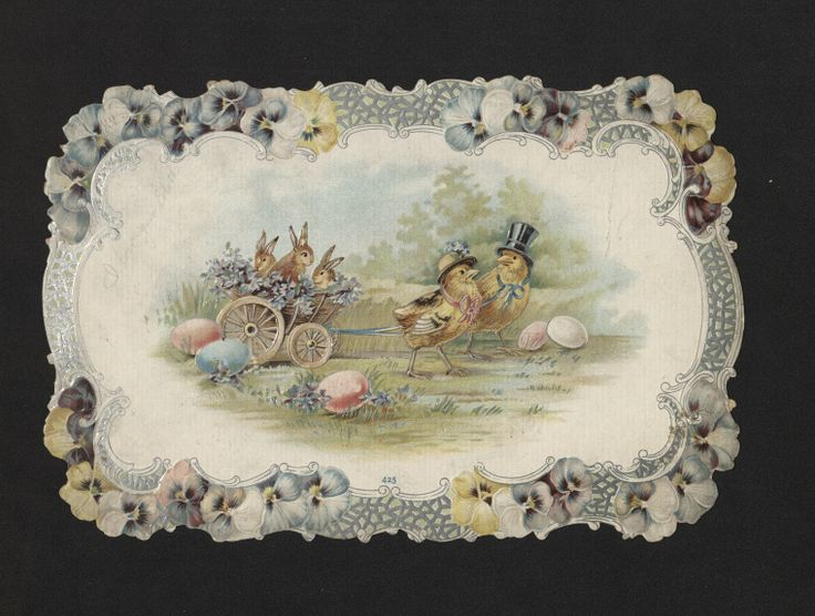 Easter Card. 1880