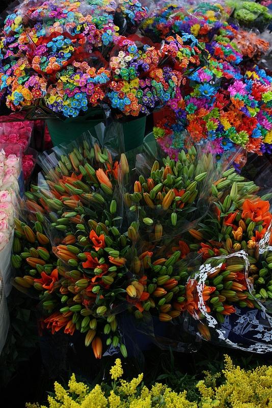 Plaza de Mercado de Paloquemao en Bogota Colombia