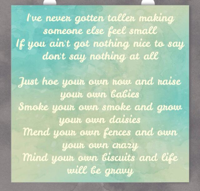 Kacey Musgraves biscuits best song lyrics ever...take heed!!