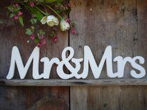 Mr&Mrs Schriftzug shabby Hochzeit Heirat Fotograf
