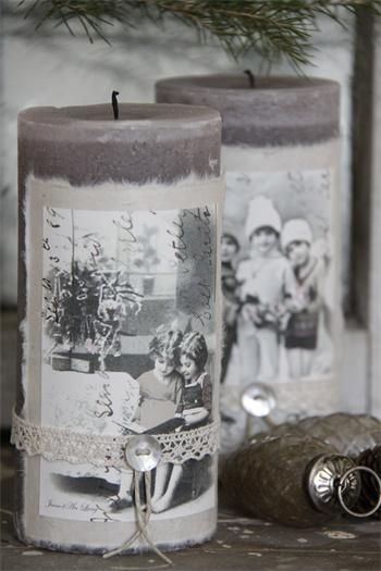 Love the idea of using copies of old family Photos. sending as gifts!