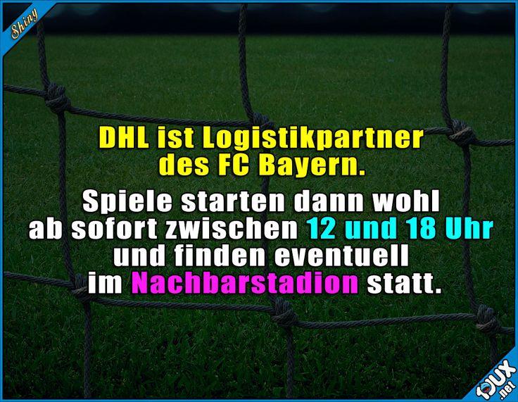 Typisch DHL eben. :P #DHL #FCBayern #Fußball #Nachrichten #nurSpaß #Humor #lustig