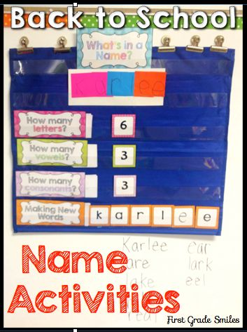 Fun, easy name activities for back to school.  Perfect for 1st grade!
