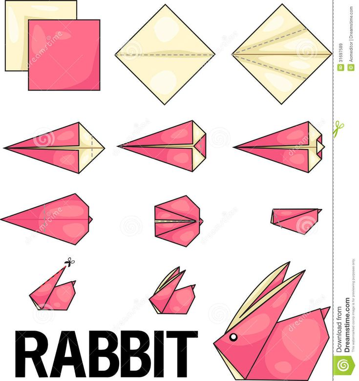 Origami Rabbit - Download From Over 53 Million High Quality Stock Photos, Images, Vectors. Sign up for FREE today. Image: 31697589