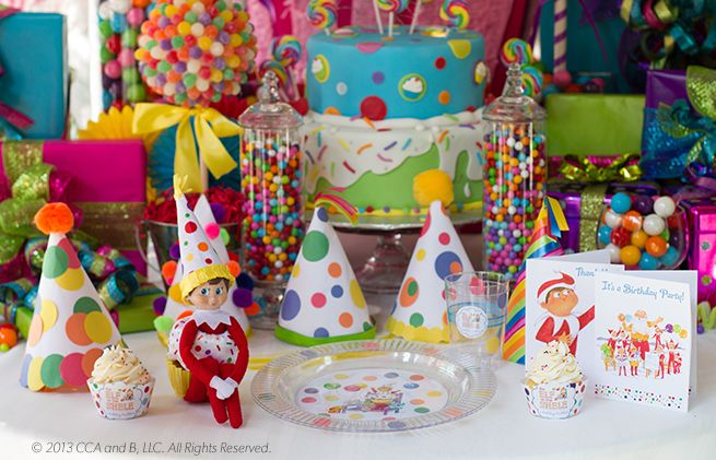 Create your very own DIY Elf on the Shelf Birthday Party! | Elf on the Shelf: A Birthday Tradition | Birthday Party Ideas