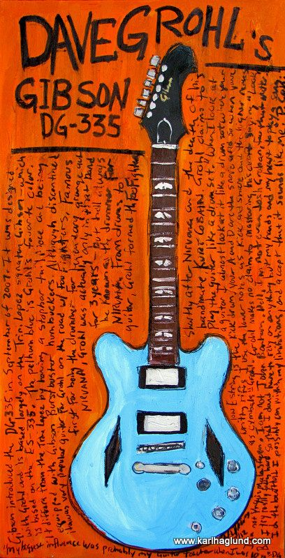 Print comes with a black border to be trimmed for 11x17 frame. Painting part of print is like 9.5 x 16.5 - roughly This is an unframed print. I ship in a USPS tube with care. I paint the guitar and then tell its story alongside. I have most of the originals - a few originals are owned by the artist featured. Any watermark on photos is not on the print itself.  **I am in no way affiliated with the guitar maker or the musician featured in any of my guitar paintings.