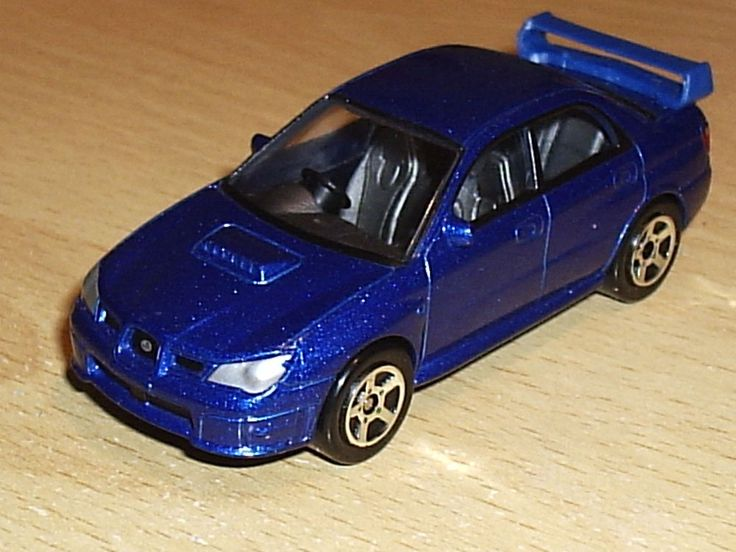 Blue Subaru Impreza WRX STi – Realtoy 1:58 Scale Model Toy - Mint and Sealed WRC #Realtoy #Subaru