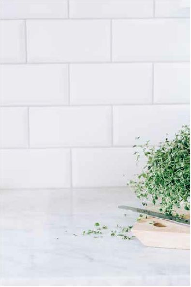Marble and Subway tiles