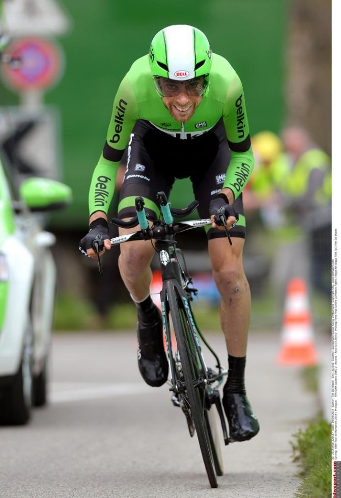 Tour de Romandie 2014 Laurens ten Dam (Belkin)