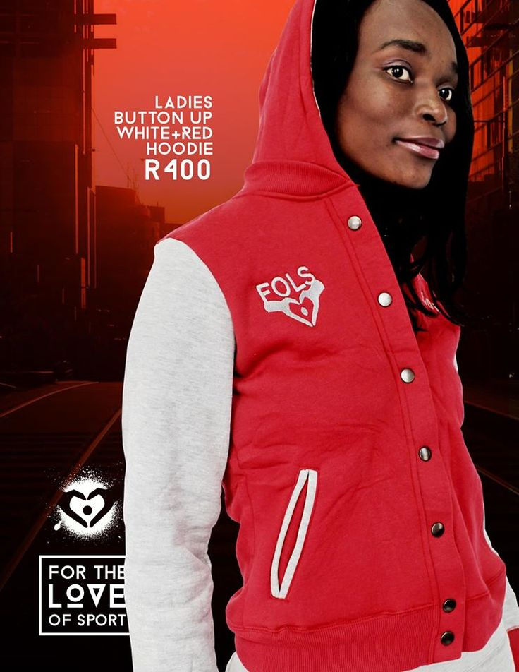 Ladies' Button-up Red & Grey Tracksuit