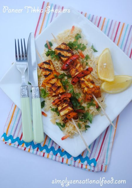 simply.food: Paneer Tikka Skewers paired with Yeni Raki  - spon...