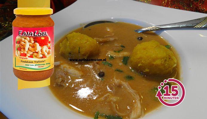 Surinaams eten – Surinaamse pindasoep met tom tom