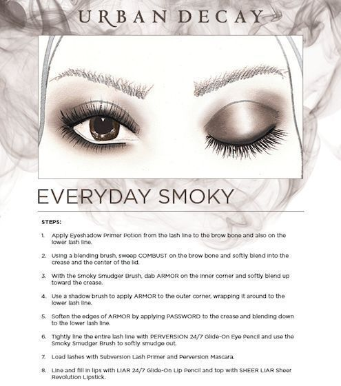 Urban Decay Everyday Smoky Eye Look...easy to follow instructions using your  NAKED Smoky Palette!