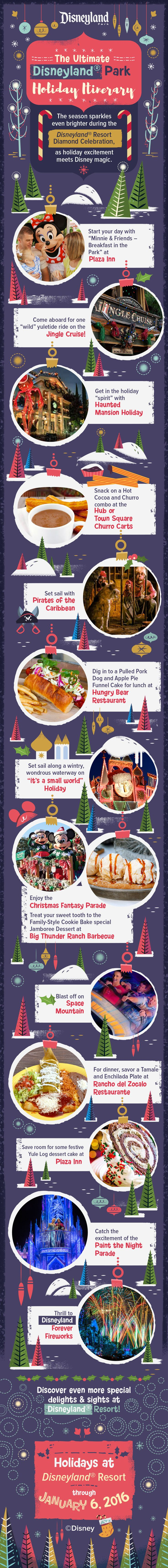 Make the season bright with this dazzling holiday itinerary at Disneyland Park!