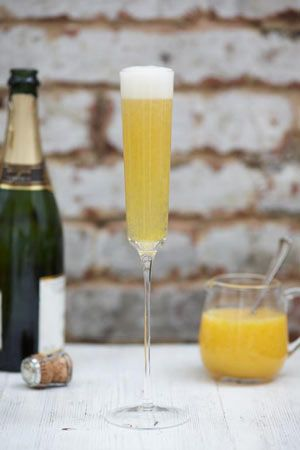A Bellini is the perfect drink for any special occasion. I've used tinned peaches here so you can be certain the fruit will be lovely and soft, rather than struggling to blitz harder, out-of-season fruit. Tinned peaches are also the kind of thing most people have lurking at the back of the cupboard and this is a brilliant way to use them up!