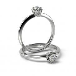 Inel de logodna din aur alb cu diamant Ulise
