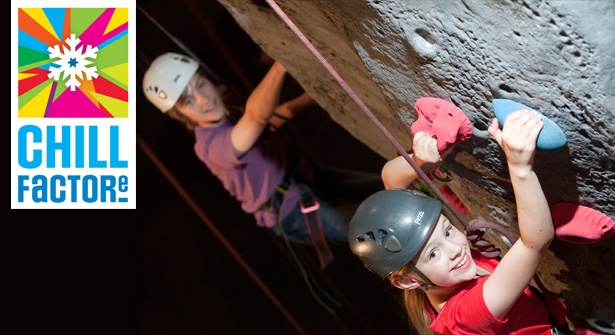 Scale the heights of Chill Factore's impressive 12 metre high wall & put your strength & stamina to the test. Save 50% on an awesome indoor climbing session for four people