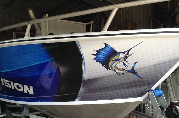 17 best images about stickyfish graphics on pinterest for Fishing boat wraps