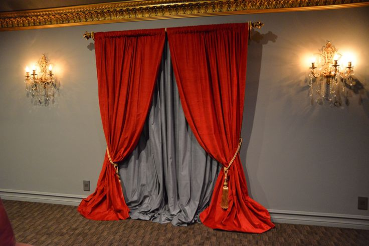 Affordable Luxury Velvet Drapes for your Home theater room