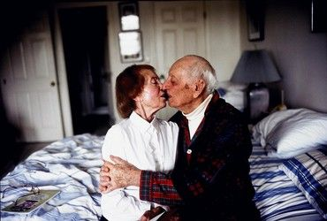 Nan Goldin My Parents Kissing on their Bed, Salem, Massachusetts 2004 -one of my favorite photographers