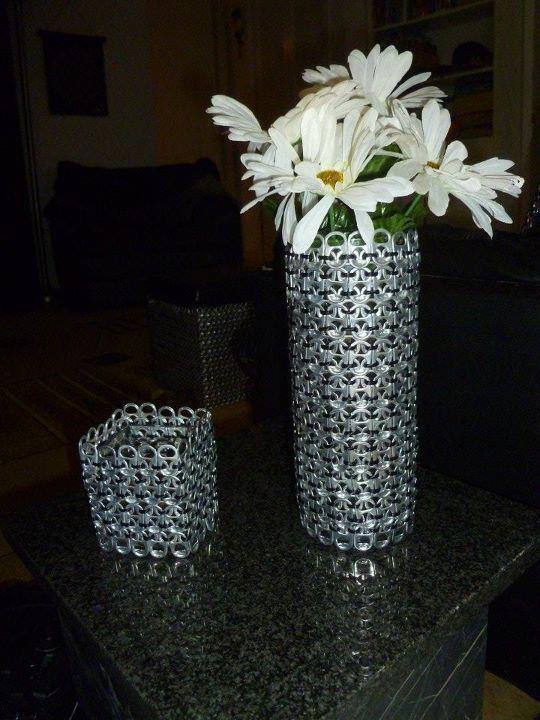 Pop Tab Vase