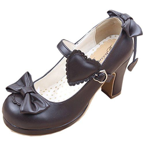 Partiss Women's Bowknot Heart High Heels Sweet Lolita Sho... https://www.amazon.com/dp/B01G70RB4O/ref=cm_sw_r_pi_dp_-EkAxb6Y14YJ1