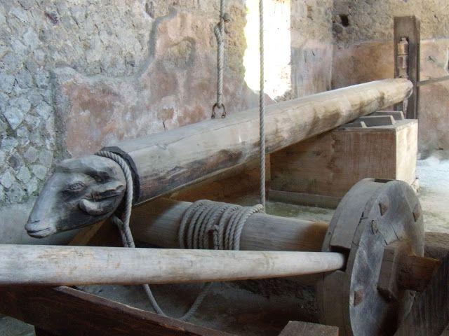 Wine press at the Villa of the Mysteries; Pompeii