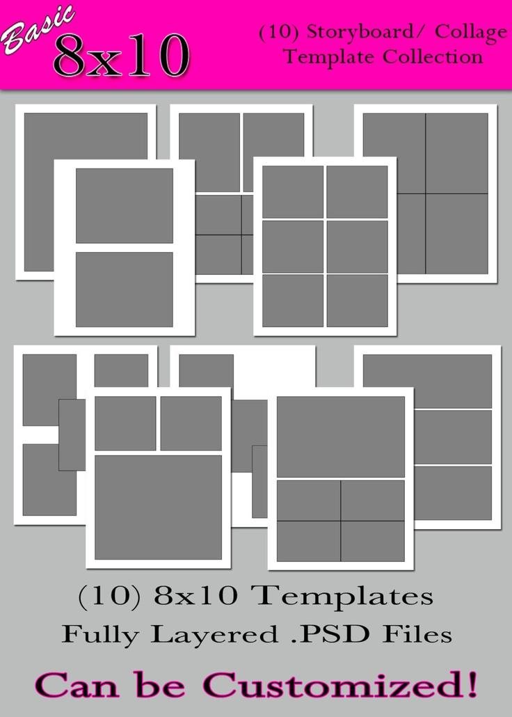 photoshop room templates - basic 8x10 collection 10 custom photo storyboard