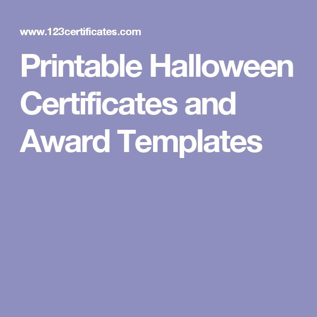 15 best certificates images on pinterest award certificates printable halloween certificates and award templates yelopaper Choice Image