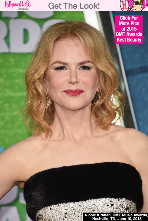 Nicole Kidman's Wavy Blonde Lob At The CMT Music Awards