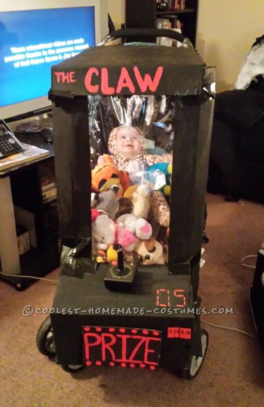 Homemade Baby Stuck in an Arcade Game Stroller Costume - 2