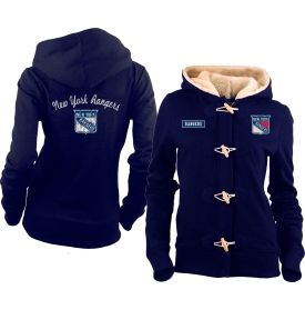 a2b4715b0 ... Old Time Hockey Womens New York Rangers Navy Inna Toggle Full-Zip Hoodie  - Dicks ...