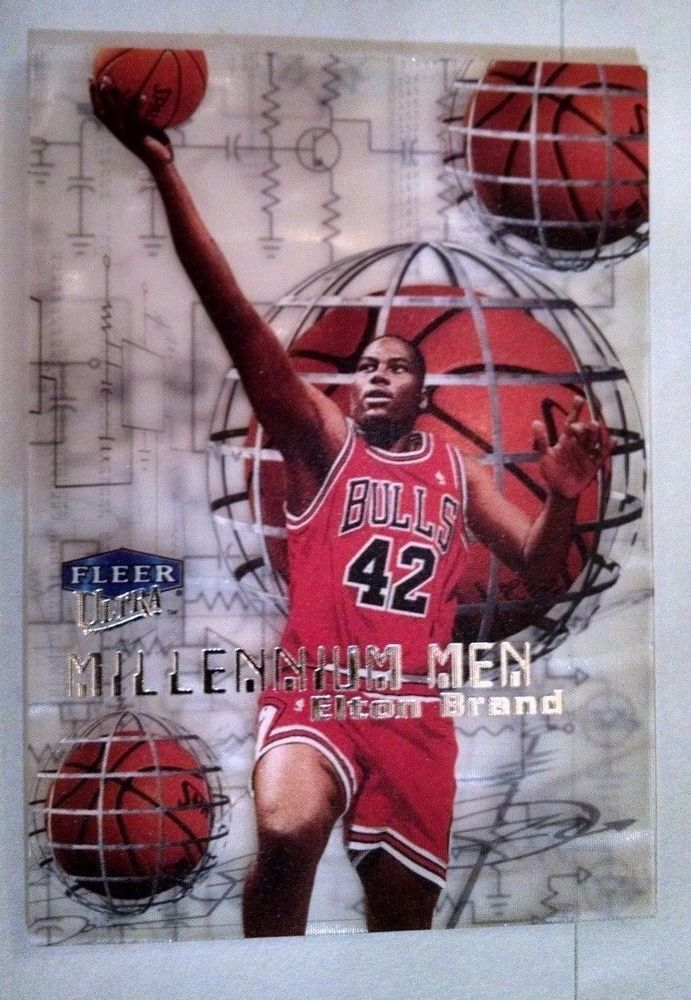 1999-00 Ultra Millennium Men #8 Elton Brand Team: Chicago Bulls  054/100 #ChicagoBulls