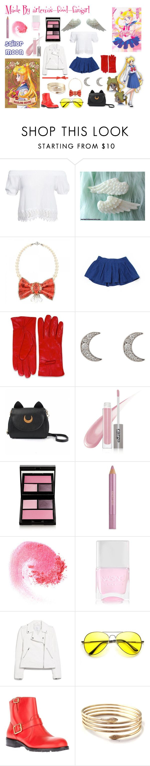 """""""Sailor Moon"""" by polyvore-character-outfits ❤ liked on Polyvore featuring Boohoo, Abercrombie & Fitch, Finn, CARGO, Surratt, Estée Lauder, NARS Cosmetics, Nails Inc., MANGO and Marc by Marc Jacobs"""