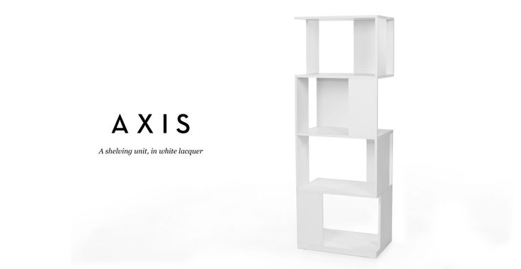 Axis Shelving Unit in white lacquer | made.com