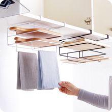 Vanzlife Envío gabinete colgante punch bastidor de lavado paño de cocina tabla de cortar de almacenamiento en rack estante colgante estante de hierro(China)