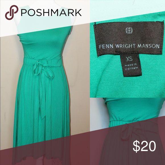 🍀FENN WRIGHT MANSON Kelly Green Dress Kelly green dress elastic waist with string tie belt sleeveless but still modest. High low hemline Dresses High Low