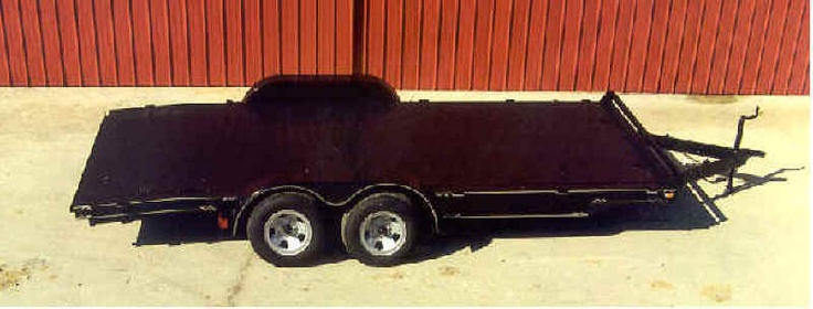 "16' CAR HAULER    MODEL#: BH1621FB – 3.5K-S-E    DECK LENGTH FLAT: 16 FT. STANDARD    TONGUE LENGTH: 4 FT.    WIDTH: 83"" INSIDE FENDERS    102"" OVERALL    MAINFRAME: 5"" CHANNEL @ 6.7# PER FOOT    CROSS MEMBERS: 2 1/2"" CHANNEL ON    24"" CENTERS    FLOORING: STD 1 5/8"" TREATED PINE    (FULL METAL FLOOR SHOWN)    FENDERS: 9"" X 72"" TEARDROP    COUPLER: 2"" A FRAME OR 7M# BULLDOG    JACK: 2 M# TOP WIND JACK    AXLES: (2) 3.5K 5° STRAIGHT    BRAKES: (1) ELECTRIC    RAMPS: SELF STORING 5 FT. LONG…"