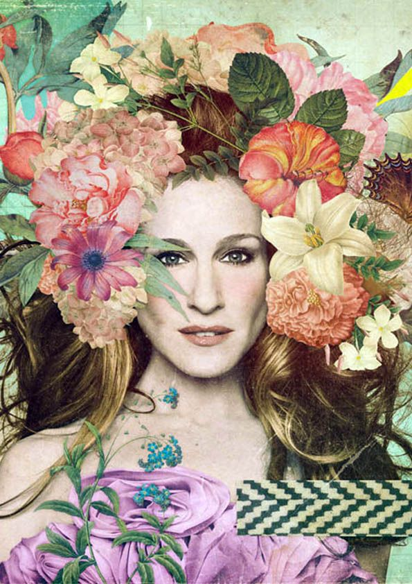 ❀ Flower Maiden Fantasy ❀ beautiful art fashion photography of women and flowers -  Sarah Jessica Parker by John Webster