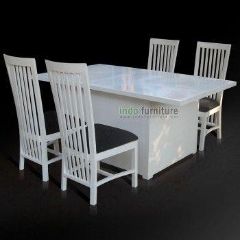 Meja Makan Minimalis Putih | Indo Furniture