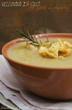 vellutata di ceci e patate al rosmarino ricetta crema di patate e ceci vegetariana